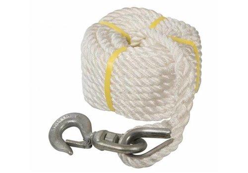 Silverline Katrol touw met haak 20 meter