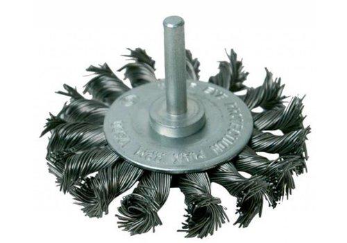Silverline Draaiknoop staalborstel wiel 75 mm