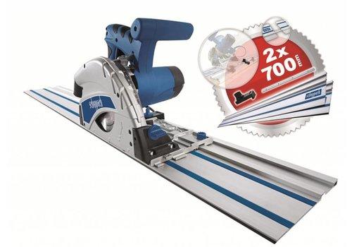 Scheppach Invalzaag 160mm PL55 MET EXTRA 2x ZAAGLINIAAL VAN 700MM