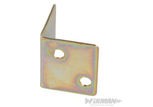 FIXMAN Hoekplaten, 10 pk. 28 x 25 x 1,0 mm