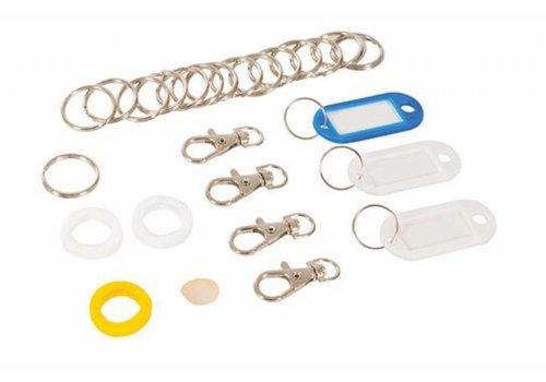 Silverline Sleutelhoesje en -hanger set, 26-delig