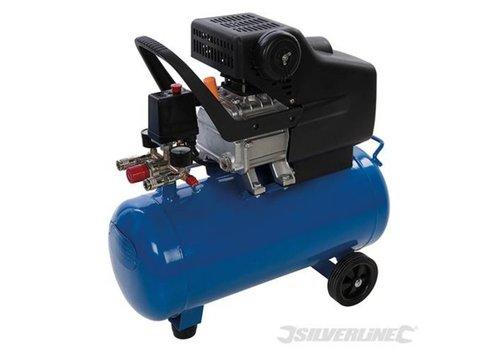 Silverline DHZ 2 pk luchtcompressor 1500 W 24 Liter