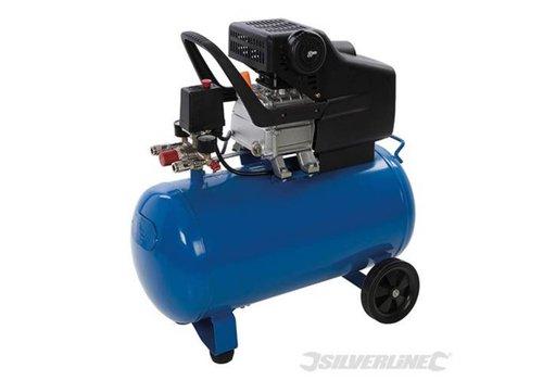 Silverline Luchtcompressor 1500 W, 2 pk 50 liter