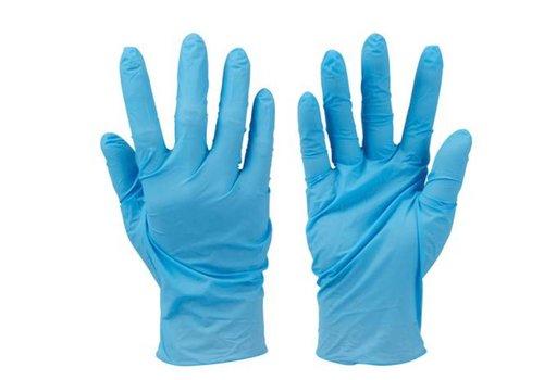Silverline Nitril poedervrij handschoenen, 100 pk. Blauw, M
