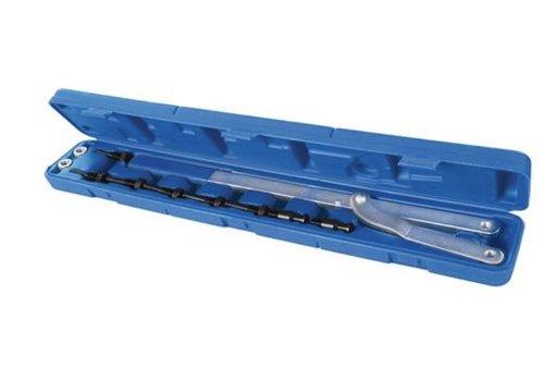 Silverline 11-delige universele poeliehouder en ventilatorset  6-16 mm