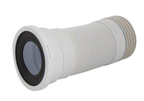 Silverline Flexibele rechte WC afvoermof, 110 mm - 240 - 450 mm