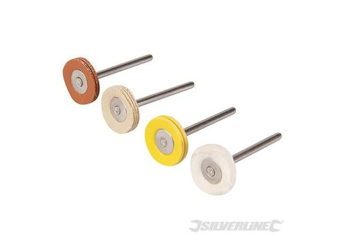 Silverline Polijstschijven, 4 pk. 20mm diameter