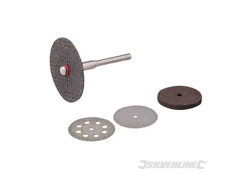 Silverline 5-delige snijschijven set 3,1 mm diameter