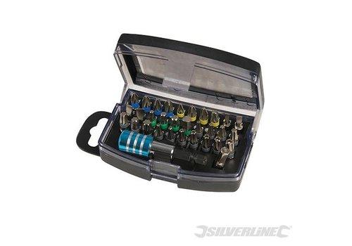 Silverline 32-delige kleur gecodeerde inzetbit set