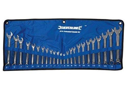 """Silverline 24-delige steekringsleutel set 6 - 22 mm en 1/4 - 1"""""""