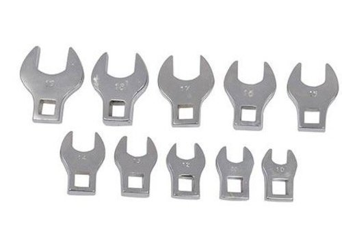 Silverline 10-delige moersleutel kraaienpoot set 10 - 19 mm