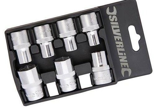 Silverline 1/2 Dopen Set Metriek 7 delig 10 - 19 mm