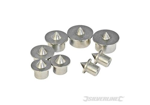 Silverline 8-delige centreerpunt set 6 - 12 mm