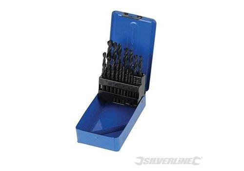 Silverline 19-delige HSS spiraalboor set 1-10mm