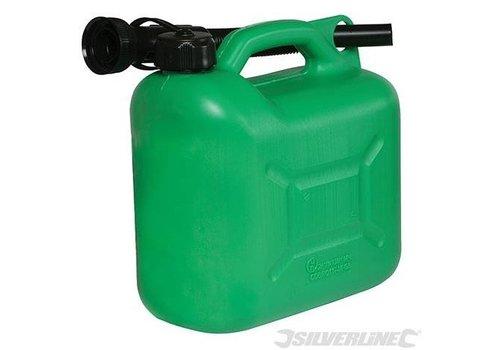 Silverline Plastic brandstof jerrycan, 5 liter