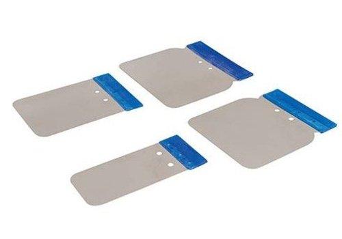 Silverline 4-delige roestvrijstalen carosserie plamuurmessen set 50, 80, 100 en 120 mm