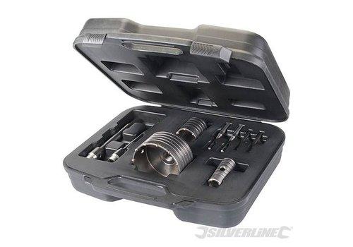 Silverline 9-delige TCT kernboor set 30, 50 en 110 mm