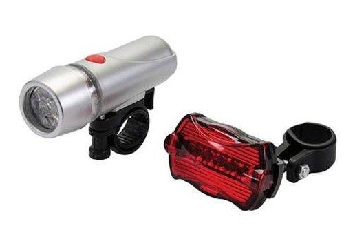 Silverline Fiets lampjes 5 LEDs 2 st.