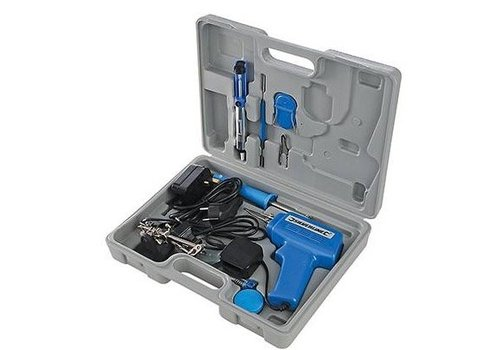 Silverline 9-delige elektrische soldeer set, 100 W / 30 W