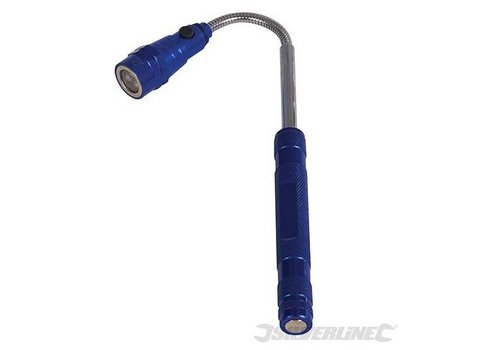 Silverline Uitschuifbare magnetische LED lamp