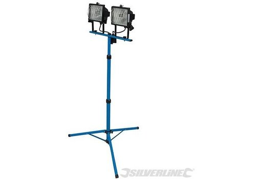 Silverline Dubbele bouwlamp, 240 V