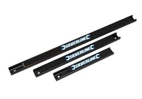 Silverline 3-delig magnetische gereedschapsrek, 203, 305 en 457 mm