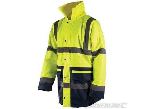 Silverline Fluoriserende jas, klasse III