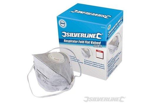 Silverline FFP3, enkel gebruik vouwbaar las/verf stofmasker met ventiel displaydoos, 25 pk.