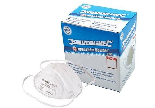 Silverline Gevormd FFP1 stofmasker displaydoos, 20 pk.