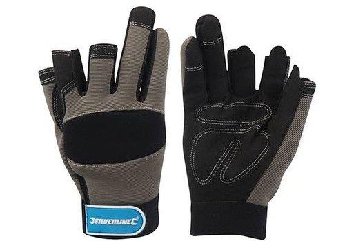 Silverline Werktuig handschoenen met 3 open vingers