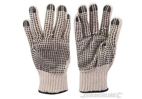 Silverline Dubbelzijdig gestipte handschoenen