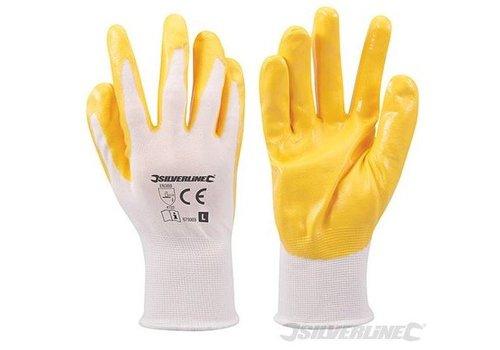 Silverline Nylon handschoenen met nitril laag