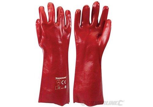 Silverline Rode PVC werkhandschoenen