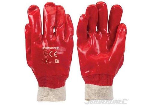 Silverline Rode PVC handschoenen