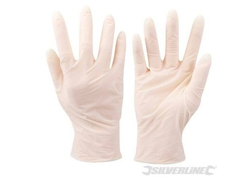Silverline Latex wegwerphandschoenen 100 st.
