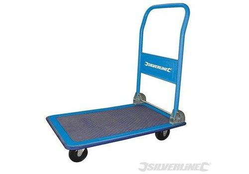 Silverline Inklapbare plateauwagen, 150 kg