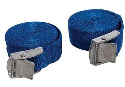Silverline 2-delige riemen set met gespsluiting, 2,5 m x 25 mm