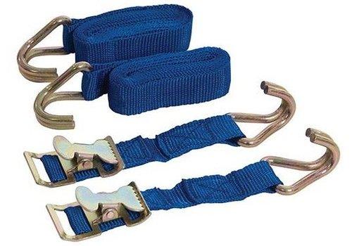 Silverline 2-delige easy-lock riemen set, 2 m x 25 mm