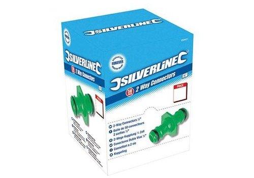 Silverline Dubbelzijdige 1/2' koppeling 50 st