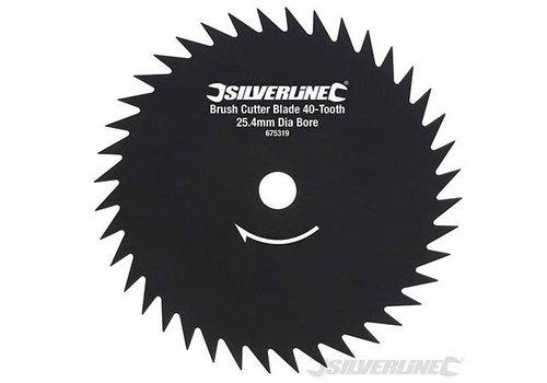 Silverline Bosmaaier slagmes met 40 tanden, 25,4 mm asgat