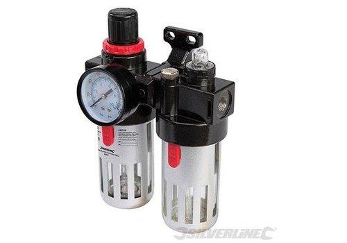 Silverline Luchtfilter drukregelaar en olievernevelaar, 150 ml