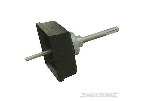 Silverline Vierkante gatenboor 77x77mm