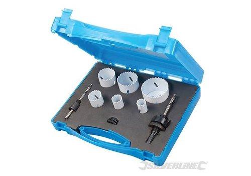 Silverline 9-delige loodgieters bimetalen gatenzaag set 19-57mm