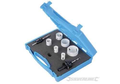 Silverline 9-delige loodgieters bimetalen gatenzaag set 18-51mm