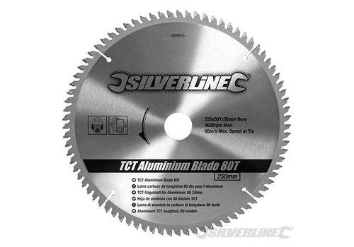 Silverline Aluminium TCT cirkelzaagblad, 80 tanden 250 x 30 - 25,20 en 16 mm ringen