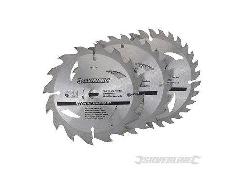 Silverline TCT Cirkelzaag bladen 3 pk van 135 tot 165mm