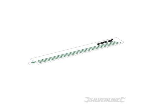 Silverline 5-delige reciprozaagblad set 240 mm