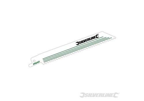 Silverline Reciprozaagblad, 6 tpi, 5 pk. 150 mm