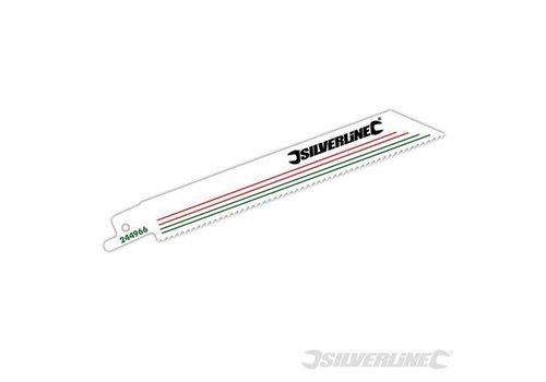 Silverline Reciprozaagblad, 10 tpi, 5 pk. bimetaal, 150 mm