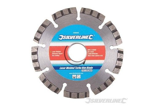 Silverline Lasergelast diamant zaagblad Turbo Rim